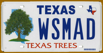 Texas Trees License Plate